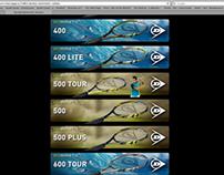 Dunlop Tennis QR Code Web Page