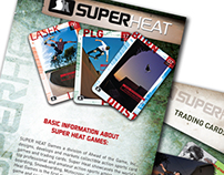Super Heat Skateboard Trading Card Brochure