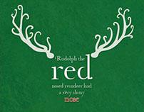 Typographic Rudolph