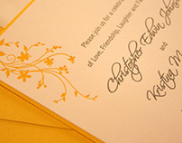 Letterpress: Wedding Invitation