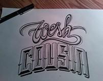 """Wesh"" - Typography"