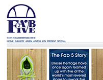 ellesse Fab 5 web design