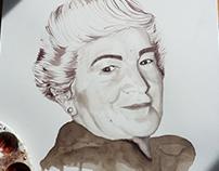 Retrato con vino Abuela Pepa