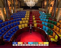 2012 TV3  ELECTIONS GRAPHICS - PARLAMENT DE CATALUNYA