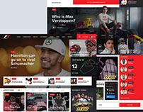 F1 Web Design Concept