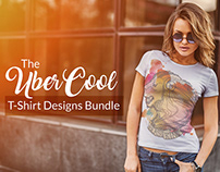 The UberCool T-Shirt Designs Bundle | 470+ Designs
