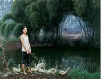 """中国·川西田园风光""""油画(3)"""