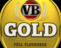 VB Gold 3D Label