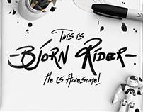 Bjorn Rider Hand Drawn Display Font