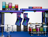 Stand Deezer Tigo Music - Diseño 3d