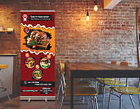 Restaurant Roll Up Banner Design.