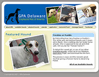 Adoption site for Greyhound Pets of America (pro bono)