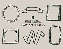 Free Handmade Frames & Ribbons Cliparts