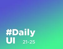 DailyUI 21-25