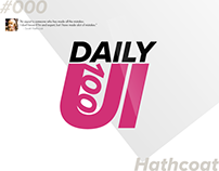 Daily UI. A design a day for 100 days.