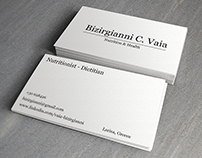 Nutritionist - Dietitian Business Cards (Design)