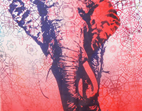 Ombre Elephant Scarf