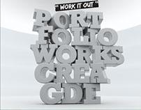 inspiration 3D portfolio text