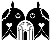"Château Kefraya ""Love Birds"" illustration"
