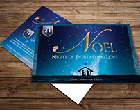 Noel Christmas Postcard Template