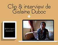 Clip & interview de Gislaine Duboc