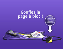 World's first inflatable website for Proximus