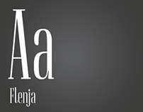 Flenja – a condensed serif typeface