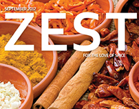 ZEST Magazine, for the love of spice - Editorial Design