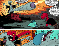 One page comic shot