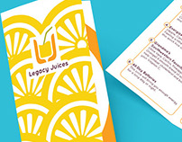 Legacy Juices - Redesign and graphic materials - 2015