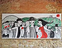 """Elogio al lavoro"" \ live painting \ 25th April \ 2017"