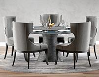 3D Model | Baker | Katoucha and Marat dining set