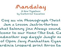Mandalay typeface design