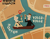 Map of restaurants Ginza Project in Saint Petersburg