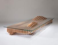 DAL PIAN - Mountain & Water - Glass Table