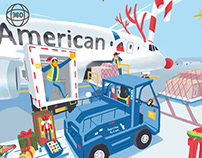 American Airlines Cargo Greetings | 360 Illustration