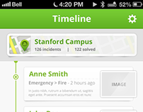 iOS timeline app