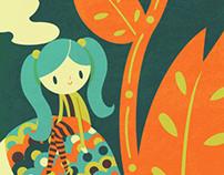 La niña y su hurón
