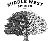 Middle West Spirits Brandmark rendered by Steven Noble