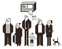 "Graphic Design for exhibition ""IN-Habitation 2012"""