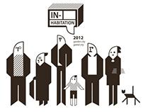 "Graphic Design for exhibition ""IN-Habitation 2012"""