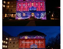 Projection façade Nestlé
