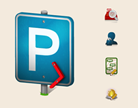 Parking Application Icon Design