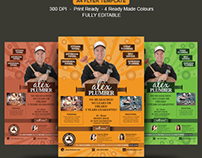 Best Plumbing Services Flyer Templates