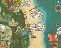 illustrated map: Neverland