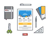 Illustrations for mailjet.com