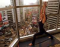 Yoga: Peaceful place in a busy world.