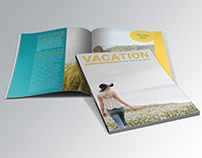 Vacation Magazine cover and spread