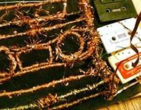 Made from 100% Cassette Tape Cassette Tape.