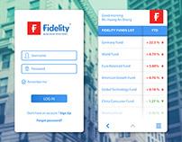 DailyUI 003 - Fidelity App UI